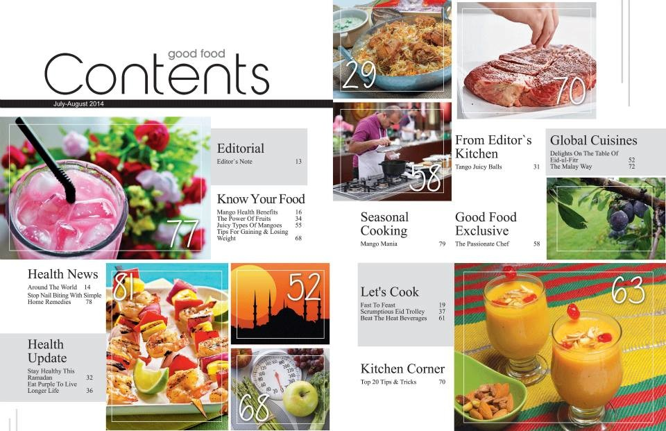 Contents Page Progression - amber's media blogFood Magazine Table Of Contents